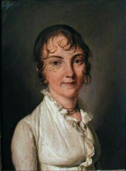 Portrait of a Young Woman in White | Louis LEopold Boilly | Oil Painting
