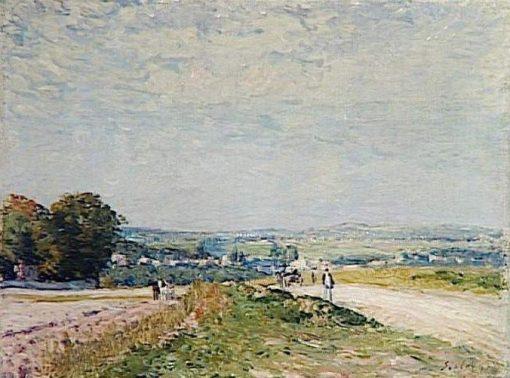 Le chemin de Montbuisson a Louveciennes | Alfred Sisley | Oil Painting