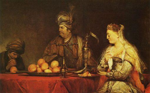 Haman and Ahasuerus at the Feast of Ester | Aert de Gelder | Oil Painting