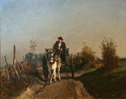 A Farmer in His Wagon | Constant Troyon | Oil Painting
