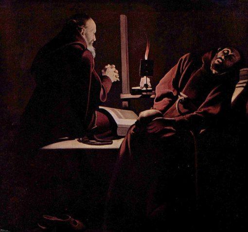 The Ecstasy of Saint Francis | Georges de La Tour | Oil Painting
