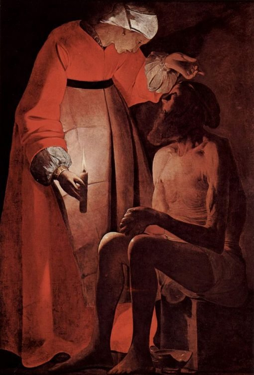Job Mocked by His Wife | Georges de La Tour | Oil Painting