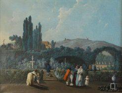 Vue des jardins de Benfica | Jean Pillement | Oil Painting
