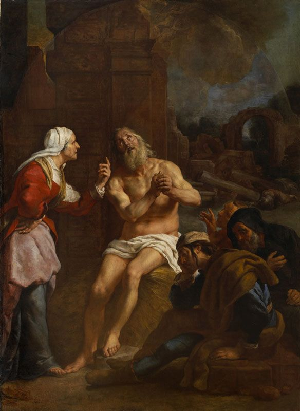 Job Tormented by His Wife Painting | Gaspard de Crayer Oil Paintings