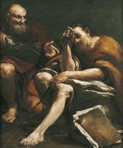 Democritus and Heraclitus | Giuseppe Maria Crespi | Oil Painting