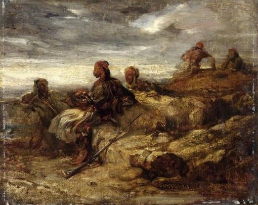 Arab Warriors | Alexandre Gabriel Decamps | Oil Painting