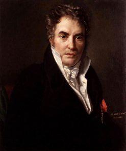 Portrait of the Painter Louis David | Francois Joseph Navez | Oil Painting