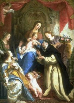 The Virgin Mary Offering the Rosary to Saint Dominic | Gaspard de Crayer | Oil Painting