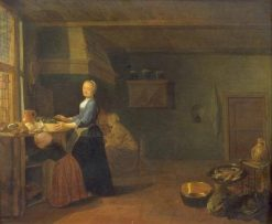 Kitchen Interior | Hendrik Martensz. Sorgh | Oil Painting
