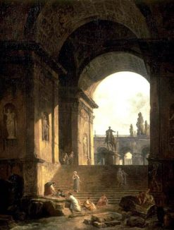 Caprice of the Roman Capitol | Hubert Robert | Oil Painting