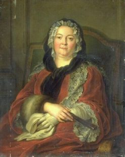 Portrait of Claudine Guérin de Tencin (1682-1749) | Jacques AndrE Joseph Aved | Oil Painting