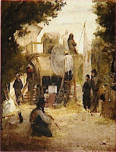 Sculptors Working on a Pathway | Jean Baptiste Camille Corot | Oil Painting