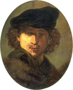 Study after Self-Portrait of Rembrandt | Jean Baptiste Carpeaux | Oil Painting