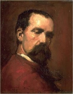 Self-Portrait in a Red Jacket | Jean Baptiste Carpeaux | Oil Painting