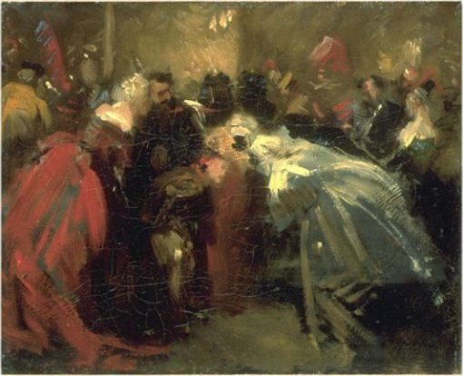 Masked Ball in the Tuileries   Jean Baptiste Carpeaux   Oil Painting
