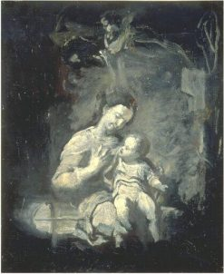 Virgin and Child (after Correggio) | Jean Baptiste Carpeaux | Oil Painting