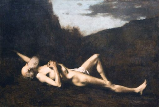 Saint Jerome in the Desert | Jean Jacques Henner | Oil Painting