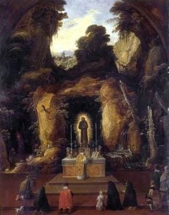 Mass in a Grotto | Joos de Momper the Younger | Oil Painting