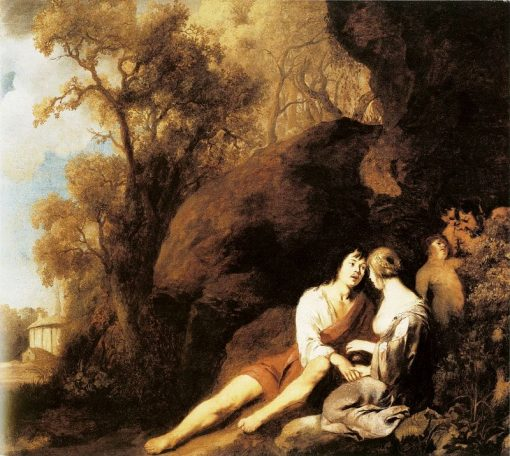 Amorous Couple in a Landscape | Peter Lely | Oil Painting
