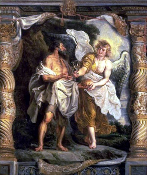 The Prophet Elijah and an Angel in the Desert | Peter Paul Rubens | Oil Painting