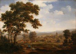 View of a Village | Joris van der Haagen | Oil Painting