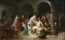 Sainte Elisabeth de Hongrie soignant les malades | Pierre Auguste Cot | Oil Painting