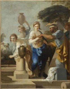 Eliezar and Rebecca at the Well | Sebastien Bourdon | Oil Painting
