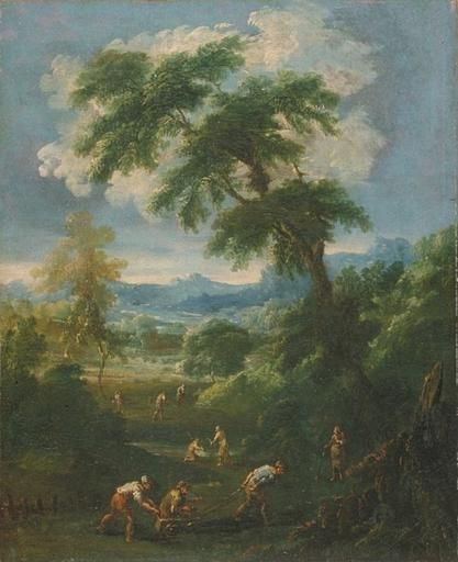 Landscape with Figures | Alessandro Magnasco | Oil Painting
