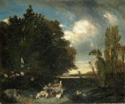 Landscape with Animals | Alexandre Gabriel Decamps | Oil Painting