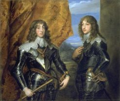 Portrait of Charles Louis and Robert de Simmeren | Anthony van Dyck | Oil Painting
