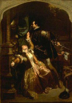 Valentine et Raoul | Camille Joseph Etienne Roqueplan | Oil Painting