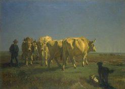 Oxen | Constant Troyon | Oil Painting