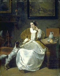 Portrait of Madame Baradgen | Eugene Emmanuel Amaury Duval | Oil Painting