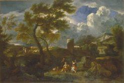 Italian Landscape with Figures | Gaspard Dughet | Oil Painting