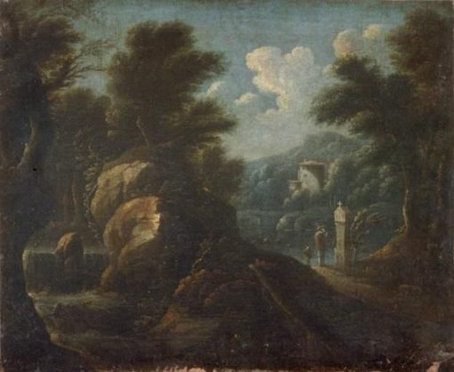Italian View   Herman van Swanevelt   Oil Painting