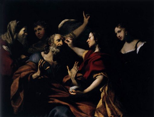 Tobias Healing the Blindness of His Father | Jacques Blanchard | Oil Painting