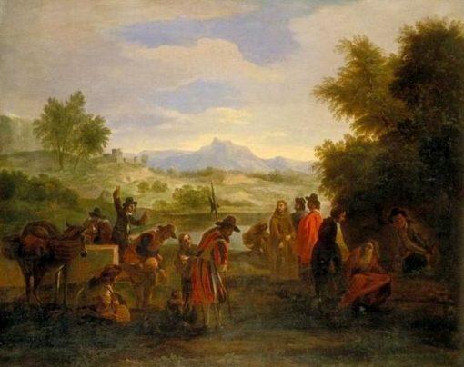 Landscape with Figures | Jan Miel | Oil Painting