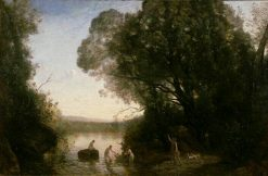 Diana Bathing | Jean Baptiste Camille Corot | Oil Painting