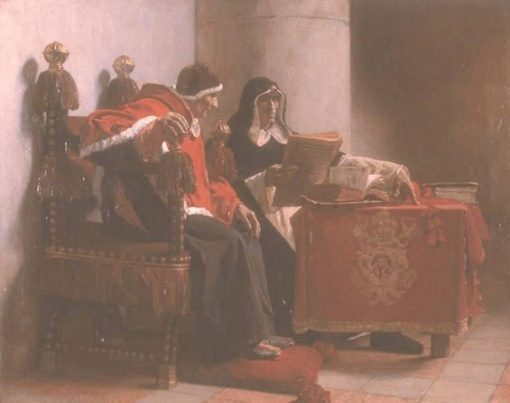 Pope Sextus IV and Torquemada(also known as Le Pape et I'Inquisiteur) | Jean Paul Laurens | Oil Painting