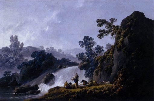 Landscape with Washerwomen | Jean Pillement | Oil Painting