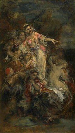Les femmes souliotes (Women Rising) | Narcisse Dìaz de la Peña | Oil Painting