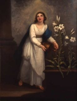 The Blessed Mary Watering a Lily | Angelica Kauffmann | Oil Painting