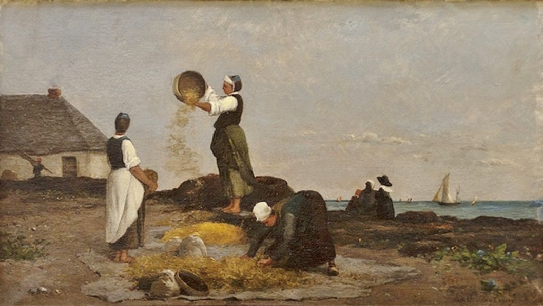 Les vanneuses a Kérity | Karl Pierre Daubigny | Oil Painting