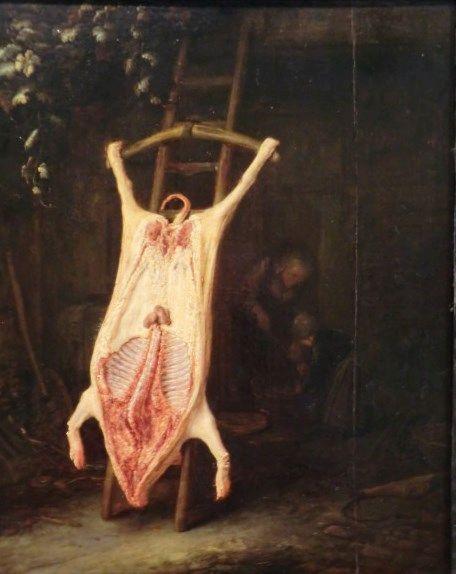 Porc écorché | Adriaen van Ostade | Oil Painting