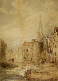 L'Eglise Saint-Pierre et l'Odon | David Roberts | Oil Painting