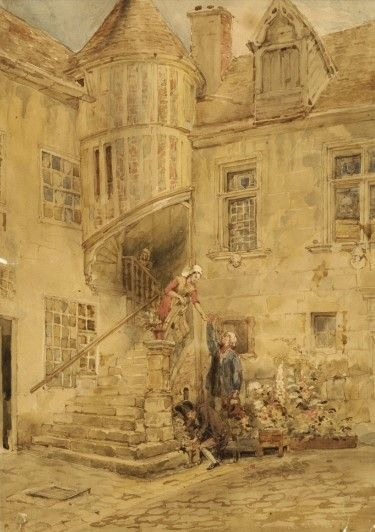 Une Maison a Caen (A House in Caen) | David Roberts | Oil Painting