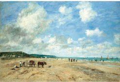 La plage a Deauville | Eugene Louis Boudin | Oil Painting
