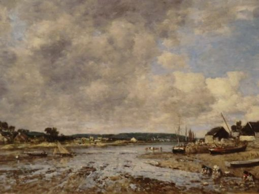 Paysage aux lavandieres | Eugene Louis Boudin | Oil Painting