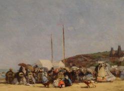 La plage de Trouville | Eugene Louis Boudin | Oil Painting