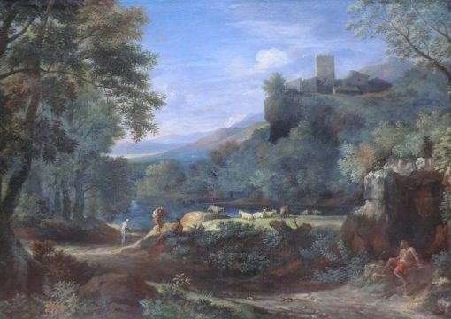 Italian Classical Landscape (Paysage du Latium) | Gaspard Dughet | Oil Painting